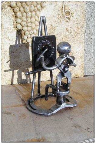 Le peinture - Sculpture de métal