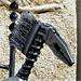 Le chevalier - Sculpture réalisée avec un vieil outil (2011)