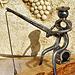 Le pêcheur - Sculpture créée grâce à de vieux outils (2011)