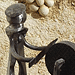 Le rémouleur - Sculpture avec des objets de récupération (2011)
