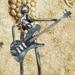 Le guitariste - Sculpture métalique