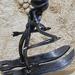 Le skieur - Sculpture métalique